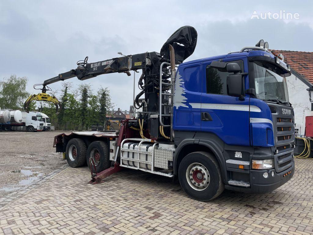 SCANIA R580-V8 6x4 loglift 281 S houtvrachtwagen