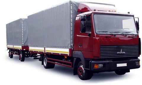 MAZ 437130-331 huifzeilen vrachtwagen + huif aanhanger