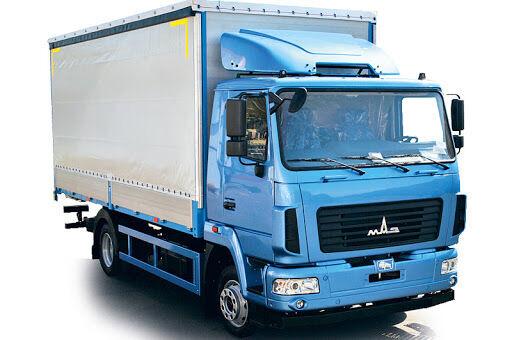 nieuw MAZ 4381C0 huifzeilen vrachtwagen