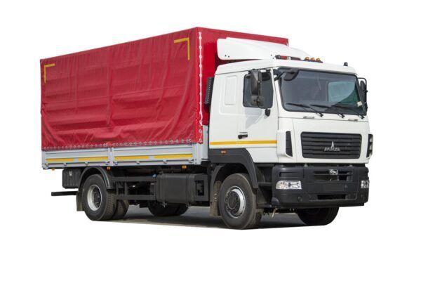 nieuw MAZ 5340C3-520-000 huifzeilen vrachtwagen