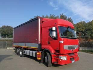 RENAULT PREMIUM 450.260 6X2 EURO 5, TELONATO 7 METRI + GANCIO TRAINO huifzeilen vrachtwagen