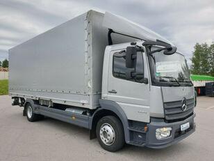 MERCEDES-BENZ 1224 L Atego Pritsche LBW - silber-neutral  1.H huifzeilen vrachtwagen