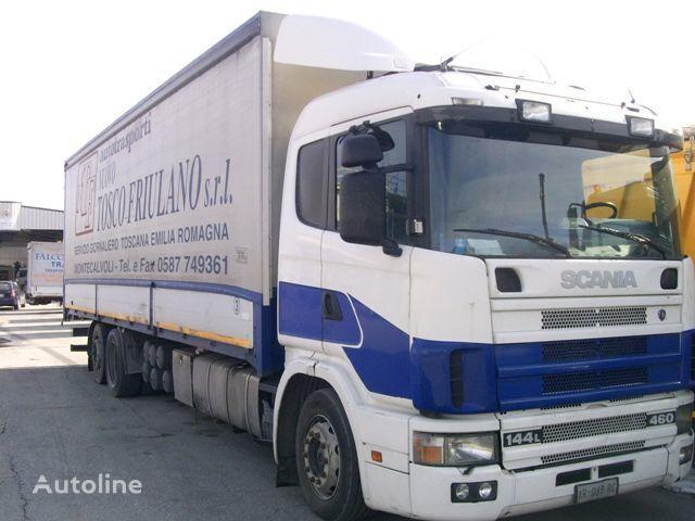 SCANIA 144L460 huifzeilen vrachtwagen