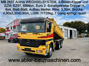 MERCEDES-BENZ 2657 Actros V8 WECHSELSYSTEM Kipper SZM kipper vrachtwagen