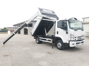 ISUZU FRR90 RIBALTABILE TRILATERALE + GRU  kipper vrachtwagen