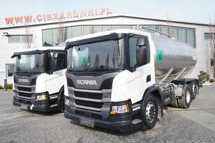 SCANIA P410 , E6 , 6X2 , 20.000km ! ! ! , 2 units , steer/lift axle , 3 melkwagen