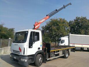 IVECO 130E18 BALESTRATO, PIANALE + GRU BONFIGLIOLI 4 TON open laadbak vrachtwagen