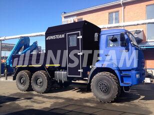 nieuw KAMAZ 43118 с КМУ ИМ-150 open laadbak vrachtwagen