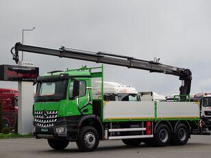 MERCEDES-BENZ AROCS 2636 / 6X4 / BOX - 6,5 M + CRANE HIAB 144 / RADIO / EURO 6 open laadbak vrachtwagen