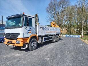 MERCEDES-BENZ Actros 3341 - FULL STEEL -crane HMF2820 with rotator open laadbak vrachtwagen