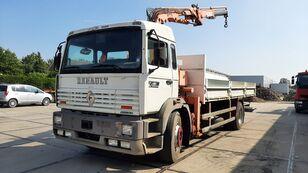 RENAULT G 230 Manager Full Spring Crane Atlas 13m. Long open laadbak vrachtwagen