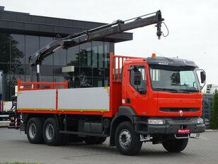 RENAULT Kerax 370 dci 6x4 Darus HIAB 144 open laadbak vrachtwagen