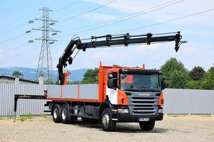 SCANIA P340 Pritsche 7,20m +HIAB 200 C-4 + FUNK/6x4 open laadbak vrachtwagen