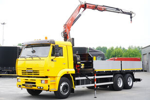 KAMAZ 65117 , 6x4 , Crane Fassi 95 , rotator , box 6m open laadbak vrachtwagen