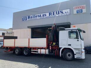 MERCEDES-BENZ ACTROS 2536 FASSI 235 open laadbak vrachtwagen