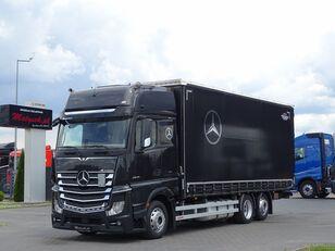 MERCEDES-BENZ ACTROS 2545 / 6X2 / CURTAINDISER - 60 M3 / L: 7,75M / GIGA SPACE schuifzeilen vrachtwagen
