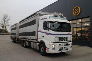 VOLVO FH12.480 CHICKEN TRANSPORTER veewagen vrachtwagen + vee aanhanger